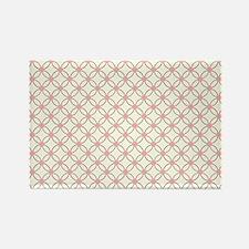 Brown Circles  Pink Dots 2 Rectangle Magnet