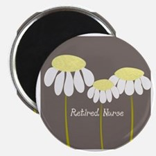 Retired Nurse Daisies Magnet