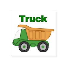 """Truck 1 Square Sticker 3"""" x 3"""""""