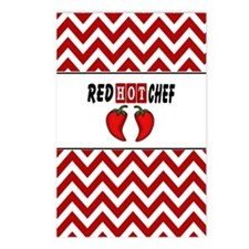 Red Hot Chef Postcards (Package of 8)