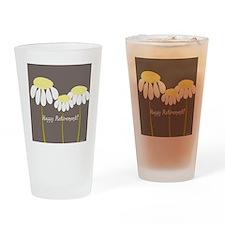 happy retirement daisies Drinking Glass