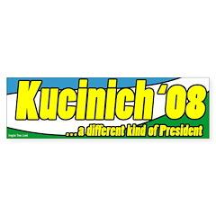 Kucinich a Different President Bumper Bumper Sticker