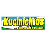 Kucinich a Different President Bumper Sticker