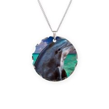 Dolphin Profile Necklace