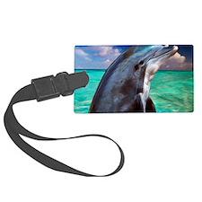 Dolphin Profile Luggage Tag