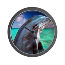 Dolphin Profile Wall Clock
