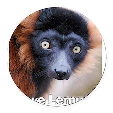 Red Ruffed Lemur T-Shirt Round Car Magnet
