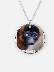 Red Ruffed Lemur T-Shirt Necklace