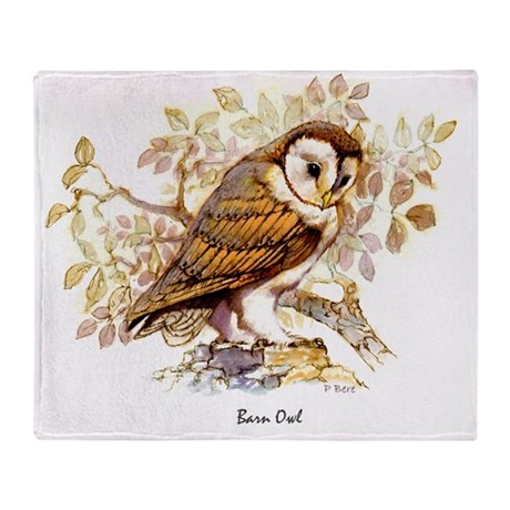 Barn Owl Peter Bere Design Throw Blanket By Admin Cp111327881
