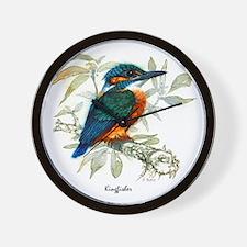 Kingfisher Peter Bere Design Wall Clock