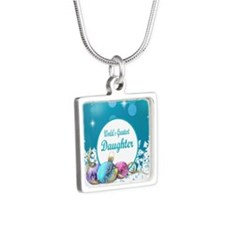 Worlds Greatest Daughter Silver Square Necklace