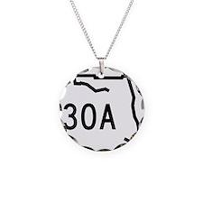 30A Florida Coast Necklace Circle Charm
