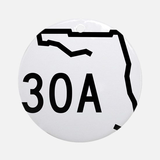 30A Florida Coast Round Ornament
