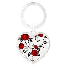Rose Heart Keychain