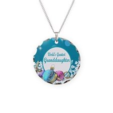 Worlds Greatest Grand  Daugh Necklace Circle Charm