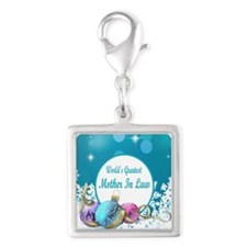 Worlds Greatest Mother In Law Silver Square Charm