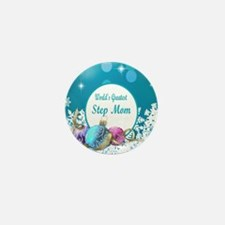 Worlds Greatest Step Mom Mini Button