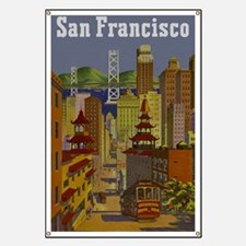 Vintage San Francisco Travel Banner