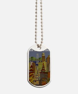 Vintage San Francisco Travel Dog Tags
