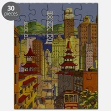 Vintage San Francisco Travel Puzzle