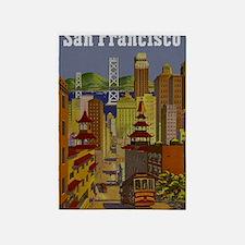 Vintage San Francisco Travel 5'x7'Area Rug