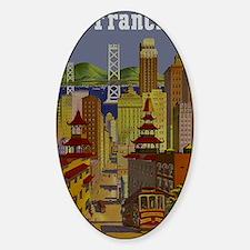 Vintage San Francisco Travel Decal