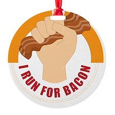 I Run For Bacon Ornament