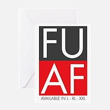 FU AF Wide Greeting Card