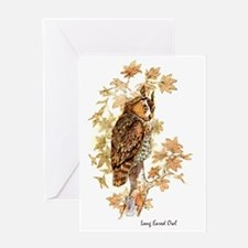Long Eared Owl Peter Bere Design Greeting Card