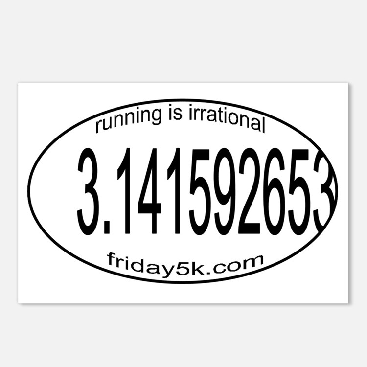 running is irrational ova Postcards (Package of 8)