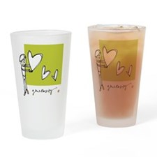 Give From the Heart Drinking Glass