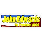 John Edwards for President Patriotic Sticker