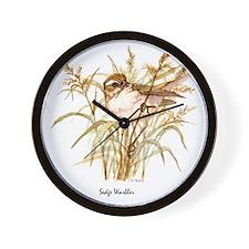 Sedge Warbler Peter Bere Design Wall Clock