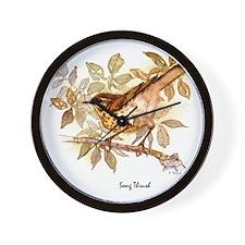 Song Thrush Peter Bere Design Wall Clock