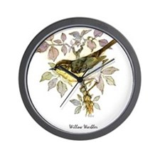 Willow Warbler Peter Bere Design Wall Clock