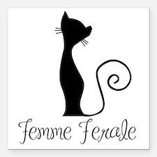 """Femme Ferale Square Car Magnet 3"""" x 3"""""""