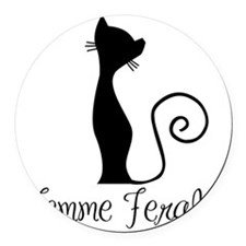 Femme Ferale Round Car Magnet