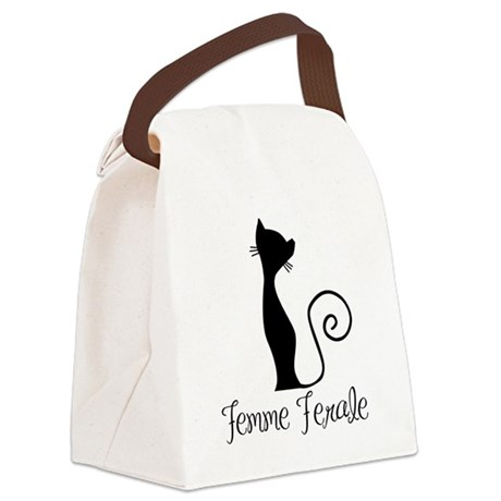 Femme Ferale Canvas Lunch Bag