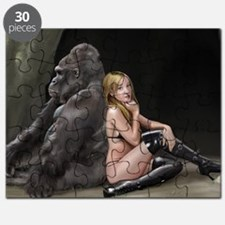 Girl and Gorilla for picture Puzzle