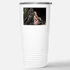 Girl and Gorilla for pi Stainless Steel Travel Mug