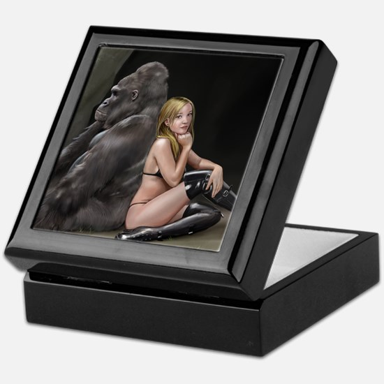 Girl and Gorilla for picture Keepsake Box