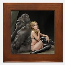 Girl and Gorilla for picture Framed Tile