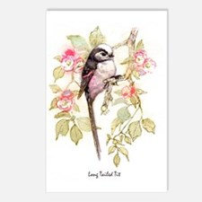 Long Tailed Tit Peter Ber Postcards (Package of 8)