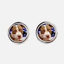 American pitbull puppy Cufflinks