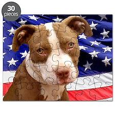 American pitbull puppy Puzzle