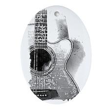 Guitar Oval Ornament