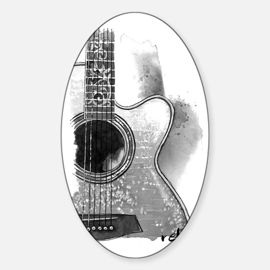 Guitar Sticker (Oval)
