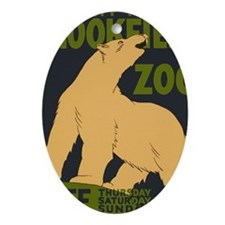 Brookfield Zoo Vintage Poster Polar  Oval Ornament