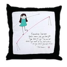 Its a Balancing Act Throw Pillow