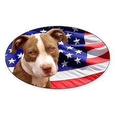 American pitbull puppy Decal